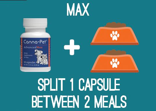 Max CBD - Split 1 capsule between 2 meals